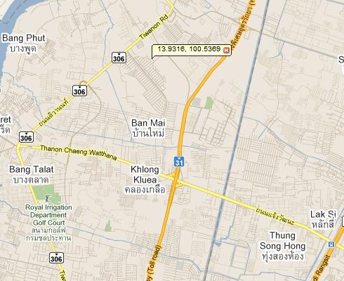 THEPLANT แจ้งวัฒนะ Google Map บ้านเดี่ยว บ้านจัดสรร