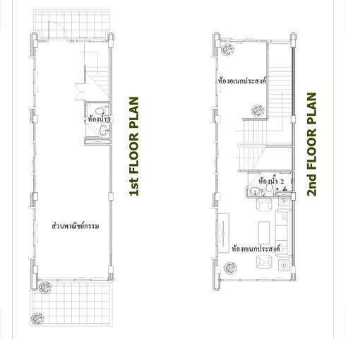 The Wayra Floor Plan ชั้น 1-2 อาคารพาณิชย์