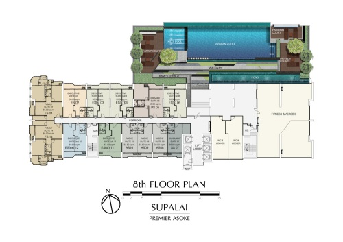ศุภาลัย พรีเมียร์ อโศก Floor Plan ชั้น 8