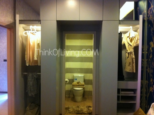 คอนโด ซีล แสนสิริ ตู้เสื้อผ้า Built-in