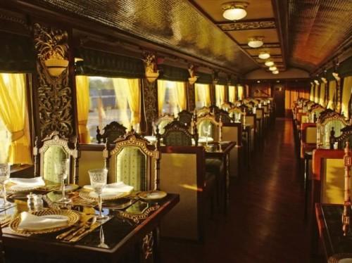 มหาราชา Express รถไฟ ตกแต่งภายใน รถไฟหรู อินเดีย