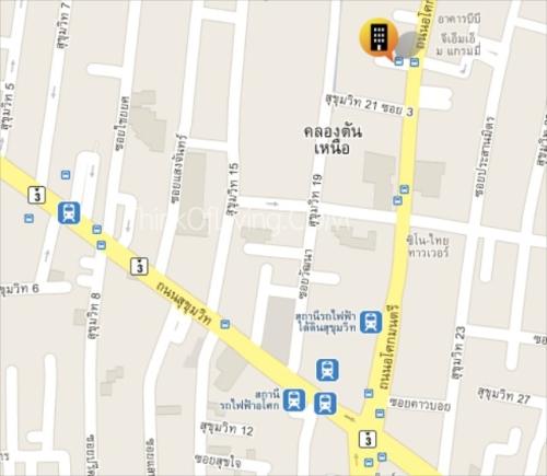 Google Map เดอะรูม สุขุมวิท 21