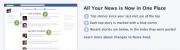 Facebook อัพเดท ฟีเจอร์ใหม่ ศูนย์รวมข่าว ด้านบน wall