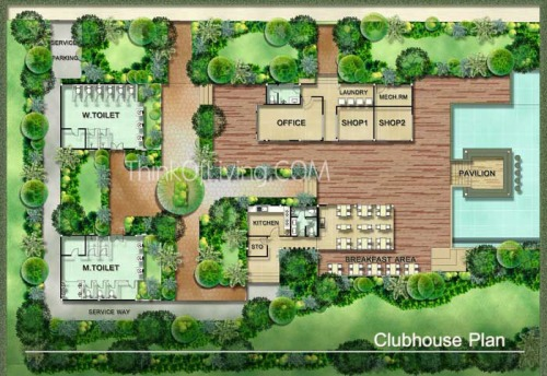 Casa Seaside ชะอำ ผัง Club House
