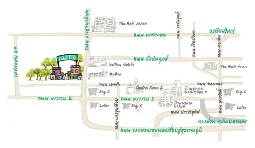 แผนที่ Villette ทาวน์โฮม