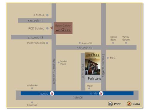 แผนที่ The Address สุขุมวิท 61