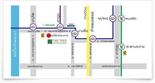 คอนโด The Tree Interchange แผนที่