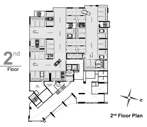 RHYTHM สุขุมวิท 44/1 2nd Floor Plan