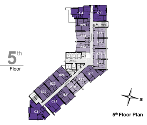 RHYTHM สุขุมวิท 44/1 5th Floor Plan