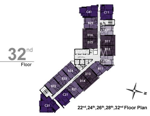 RHYTHM สุขุมวิท 44/1 32th Floor Plan