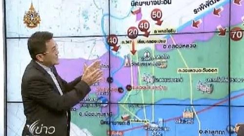 เสรี ศุภราทิตย์ ประเมิน น้ำท่วม 19 ตค 2554