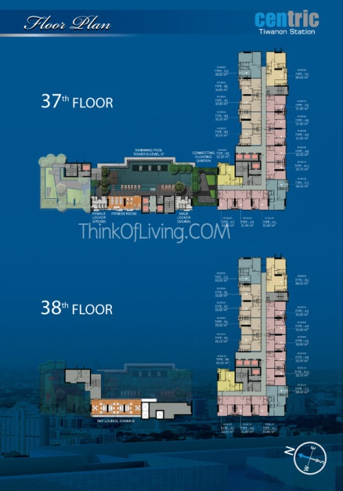 คอนโด Centric MRT ติวานนท์ - Floor 37th