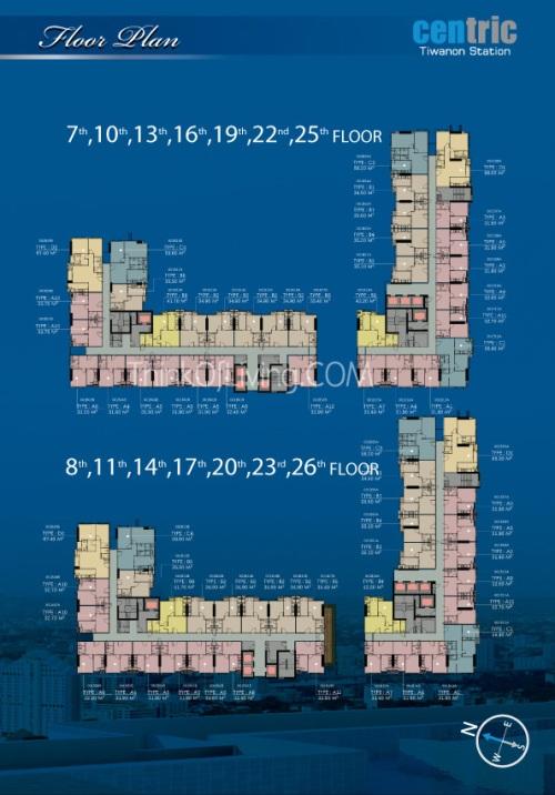คอนโด Centric MRT ติวานนท์ - Floor 7th