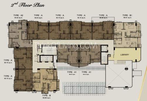 คอนโด The Crest สุขุมวิท 24 Flood Plan 2nd