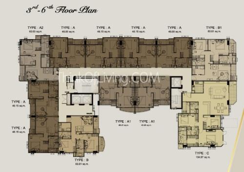คอนโด The Crest สุขุมวิท 24 Flood Plan 3rd - 6th