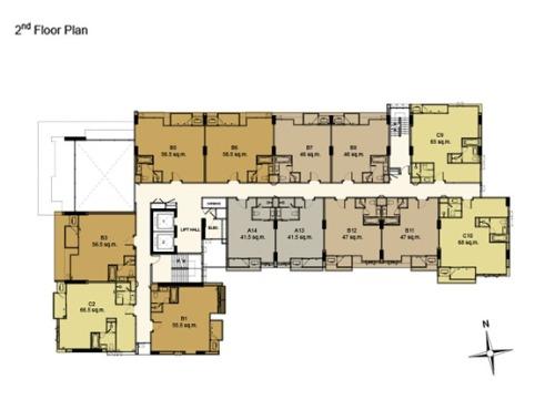 คอนโด The Address สุขุมวิท 61 Floor Plan Normal