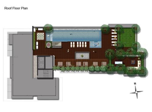 คอนโด The Address สุขุมวิท 61 Floor Plan Roof