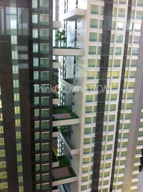 คอนโด Centric MRT ติวานนท์ สวนระหว่างตึก