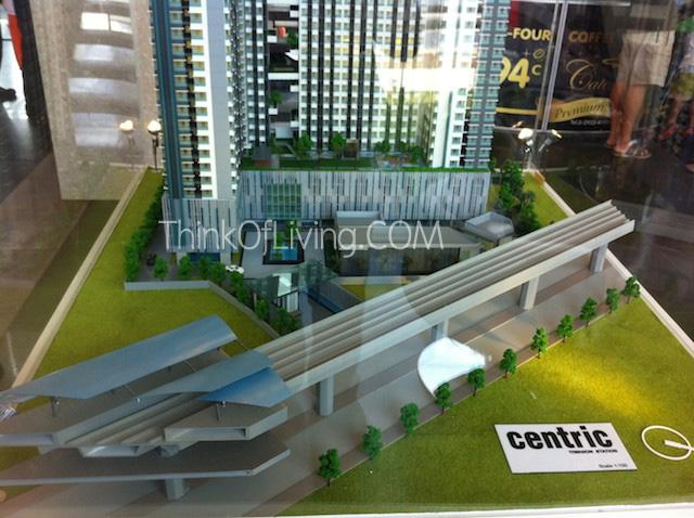 คอนโด Centric MRT ติวานนท์ โมเดลตึก