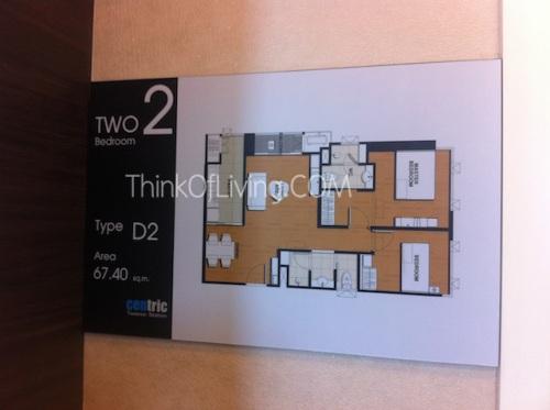 คอนโด Centric MRT ติวานนท์ ห้องตัวอย่าง D2